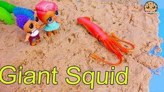 Giant Squid On Beach At Summer Beach House ! LOL Surprise Part 3