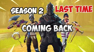 Fortnite Season 2 Battle Pass Re Release November 2018