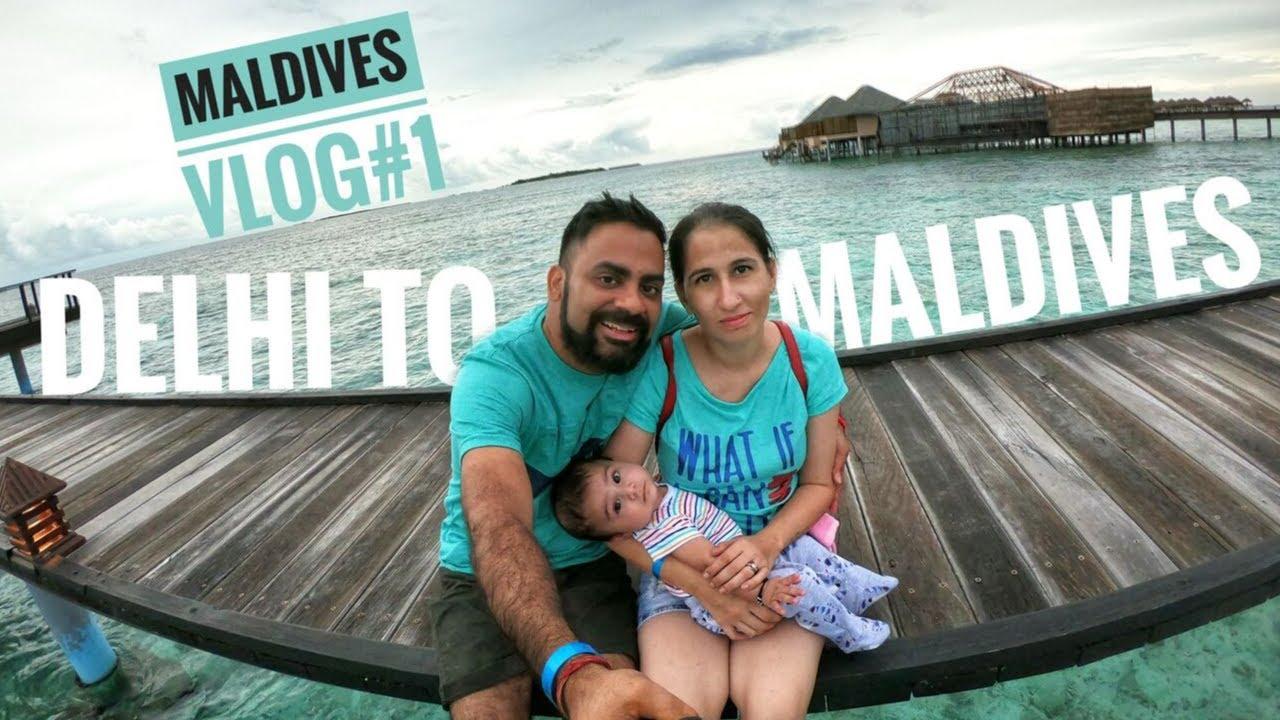 Delhi to Maldives via Kochi Flight | Speed Boat Ride to Maafushi Island | Visa for Indian | Vlog #1