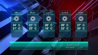 الأرصاد: الطقس معتدل على شمال البلاد حتى شمال الصعيد