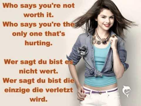 Selena Gomez - Who Says ( Lyrics + Übersetzung )