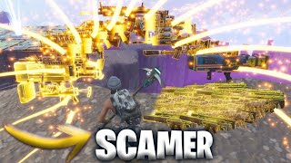 🧐 SCAMER APPEARED BUT SOMETHING INERATED HAPPEN... FORTNITE SAVE THE WORLD -valde