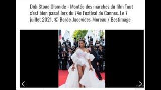Didi Stone Olomide - Montée des marches lors du 74e Festival de Cannes. Le 7 juillet 2021