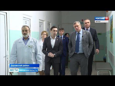 Игорь Васильев в ходе рабочей поездки посетил Даровской район (ГТРК Вятка)