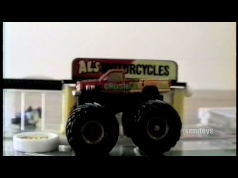Vintage SMU Toys 8mm Archive Video 1990's Micro Machines Monster Truck Stop Motion Animation