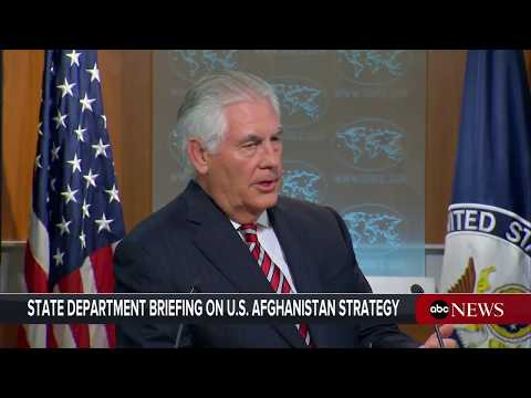 Thumbnail: Sec'y of State Rex Tillerson takes questions after President Donald Trump's Afghanistan Announcement
