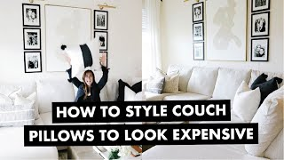 This video is all about how to style couch pillows so that they look expensive without actually being expensive. Throw pillows can add SO MUCH to your space ...