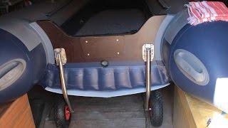 Установка колёс на лодку Флагман 350(Самостоятельная установка колёс на транец ПВХ лодки ФЛАГМАН 350., 2015-08-22T21:24:22.000Z)