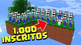 SOBREVIVENDO COM 1.000 INSCRITOS NO SKYBLOCK! (MINECRAFT)