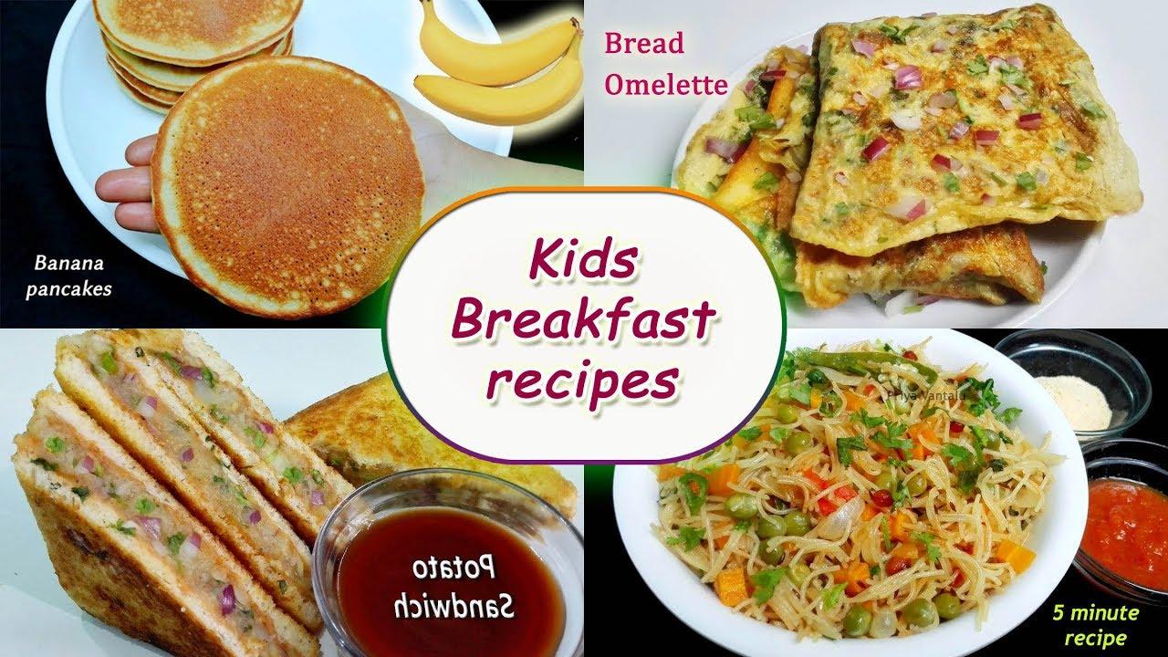 Kids Breakfast Recipes 4 Instant Breakfast Recipes Youtube
