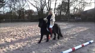 Woman rides tiny pony PART 3