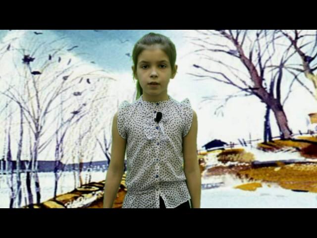 Изображение предпросмотра прочтения – ЕлизаветаШахурдина читает произведение «Весна (Зима не даром злится…)» Ф.И.Тютчева