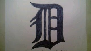 How To Draw Detroit Tigers Logo #1 Sign Symbol Emblem Easy Step By Step Tutorial Challange