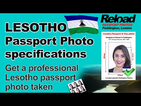 Lesotho Passport Photo and Visa Photo snapped in Paddington, London