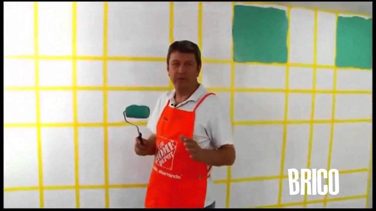 Como pintar una pared con un dise o original es muy for Diseno de paredes con cuadros