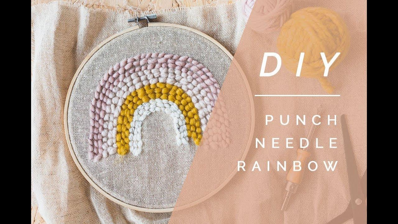 DIY Rainbow Punch Needle   Fall For DIY