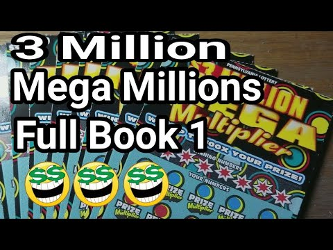 $900 Book. 3 MILLION MEGA MULTIPLIER.  First 10. Pa lottery scratch tickets.