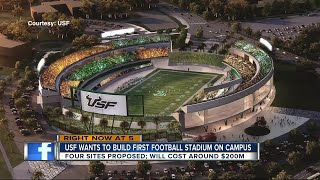 USF wants to build football stadium on campus