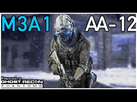 Tom Clancy's Ghost Recon Phantoms Sash0 with shotguns on TOMSK M3A1 AC and AA-12