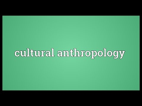 Cultural anthropology Meaning