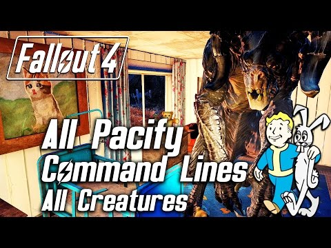 Fallout 4 - All Unique Pacify Command Lines - All Creatures