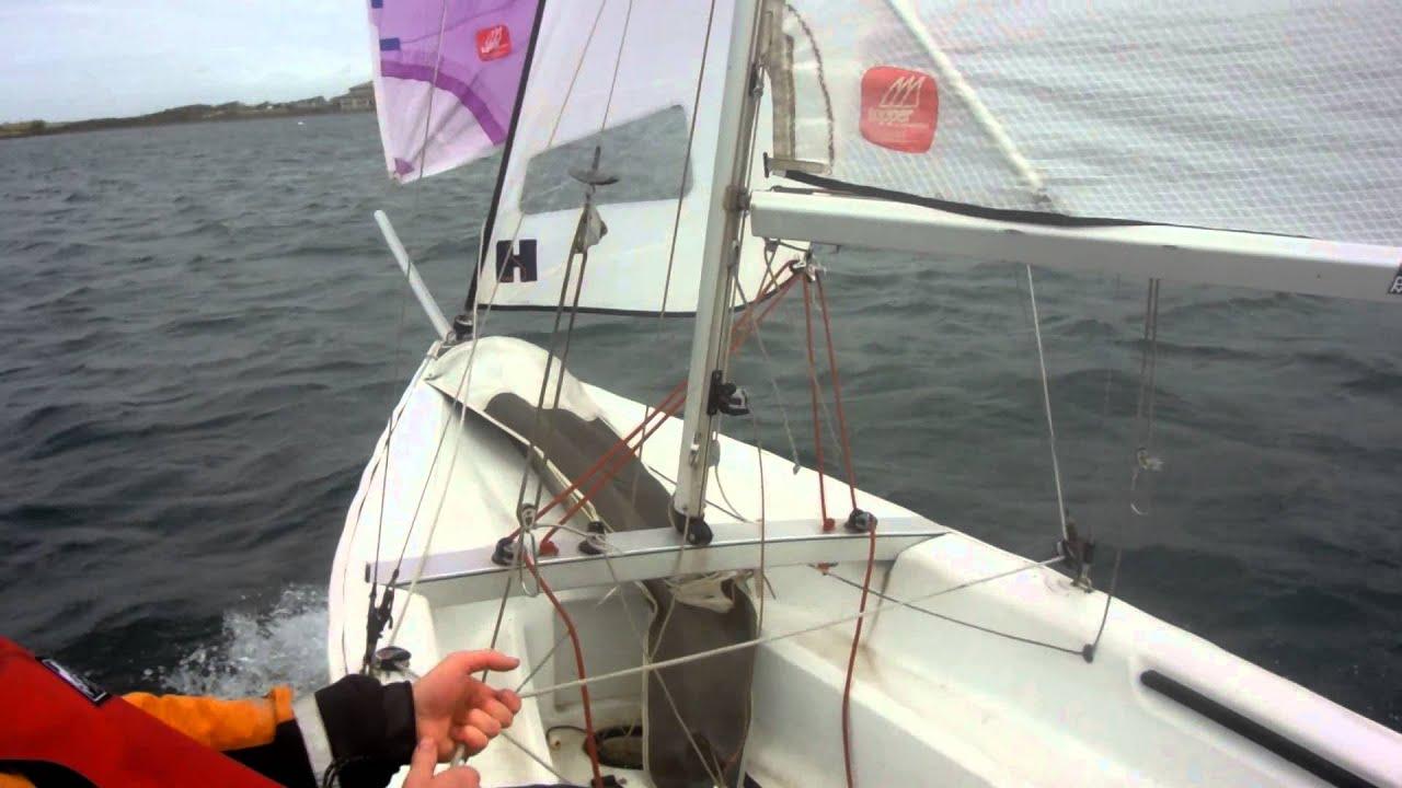 Topper Omega downwind ride - YouTube