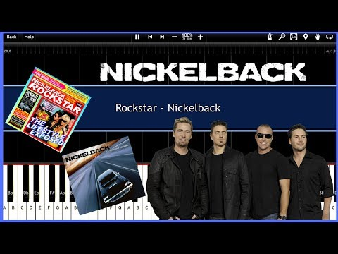 Rockstar - Nickelback (Synthesia) [Tutorial] [Instrumental Video] [Download]