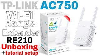 TP-LINK AC750 Wi-Fi Range Extender RE210 (unboxing & tutorial setup) easy!!!