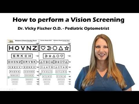 How to do a Vision Screening Training Tutorial with Sloan, Fischer Eye Chart