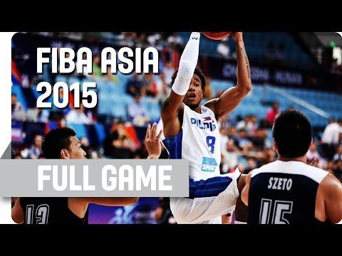 Philippines v Hong Kong - Group B - Full Game - 2015 FIBA Asia Championship