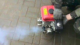 Двигун НМ 170F, плюється маслом через вихлоп, димить.