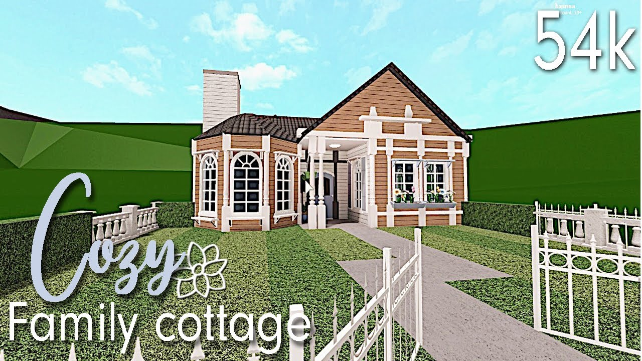 Bloxburg Cute Cozy Family Cottage Youtube