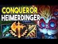 NEW CONQUEROR RUNE ON HEIMERDINGER MIDLANE?? HYBRID HEIMERDINGER POPPING OFF! - League of Legends