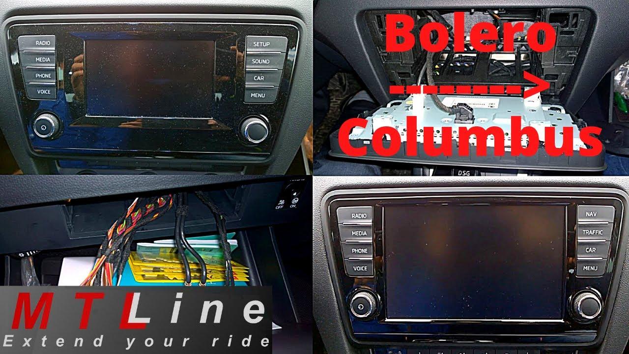 Columbus Retrofit To Skoda Octavia 3 My2015 Youtube