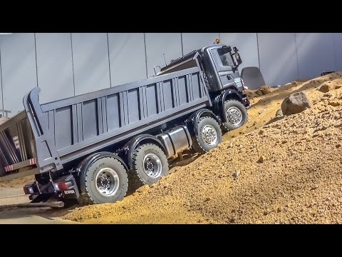 RC Truck & Tractor  ACTION & R/C 8x8 Scania stuck!