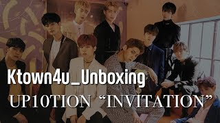[Ktown4u Unboxing] UP10TION 1st Album [INVITATION] (Red&Silver version) 업텐션