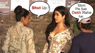 Video Sridevi FIGHTS With Daughter Jhanvi Kapoor In Public At Lakme Fashion Week 2018 Finale download MP3, 3GP, MP4, WEBM, AVI, FLV April 2018