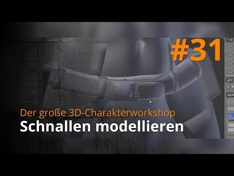 Blender 3D-Charakterworkshop Teil 1   #31 – Schnallen modellieren