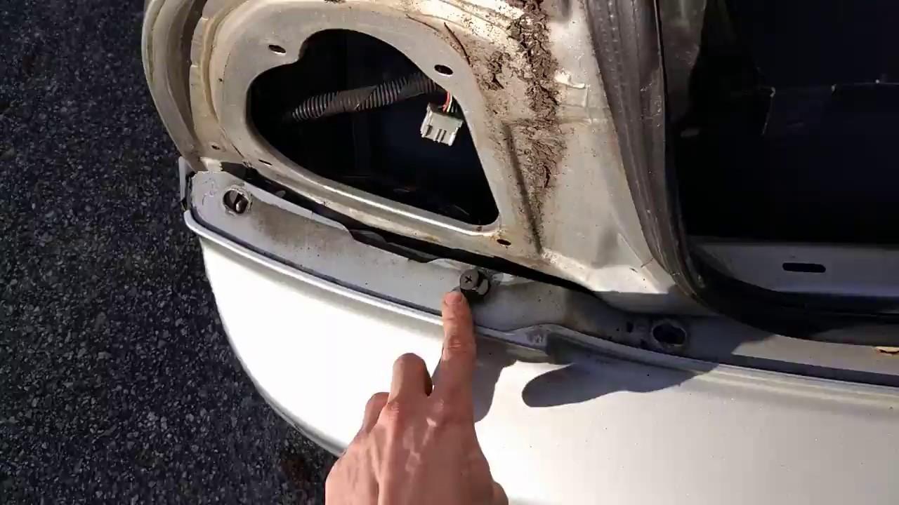 1992 1996 Honda Prelude Rear Bumper Removal