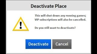 How To Cancel A Vip Server (ROBLOX)