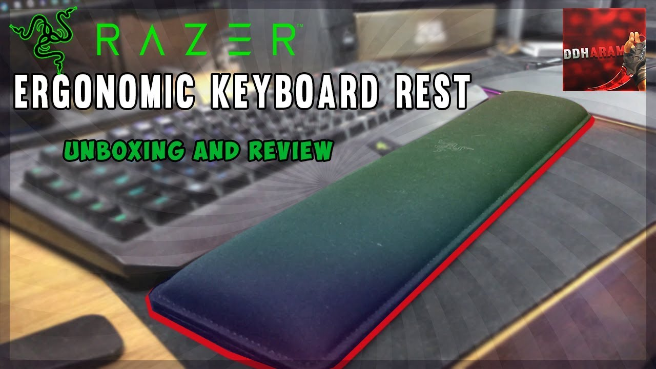 3fead48f71d The BEST Keyboard Wrist Rest! Razer Ergonomic Keyboard Rest Unboxing and  Review!