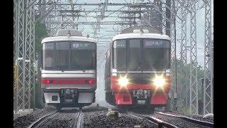 名鉄2017名電長沢駅2【4K】