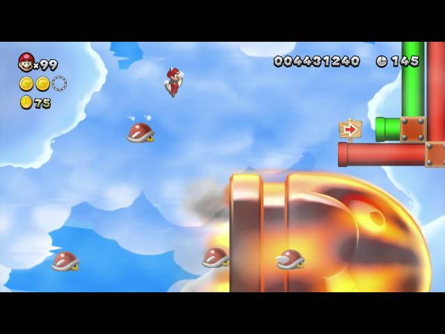 New Super Mario Bros. U - Soda Jungle-Parabeetle: Flight of the Parabeetles (Star Coins)