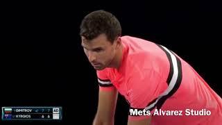 Grigor Dimitrov vs Nick Kyrgios 4R AO2018 [HIGHLIGHTS]