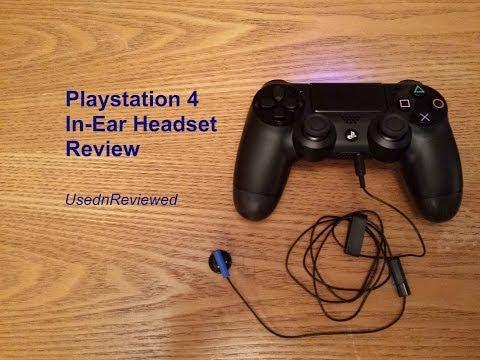 Playstation 4 (PS4) In-Ear Earphone/Headset Review (PS4 Earphones)