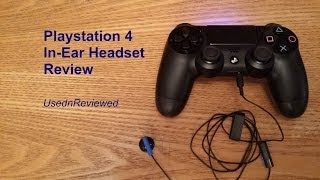 Playstation 4 (PS4) In-Ear/Headset Review | What is this piece of junk??