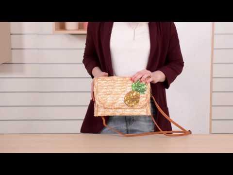 Bella bolso de mano y bandolera bordado de MISAKO