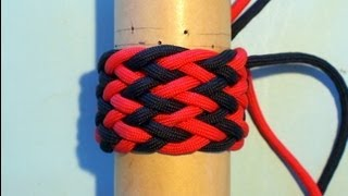 How To Tie A Paracord Gaucho Fan Knot 7L6B(Use The Pin And Tube)
