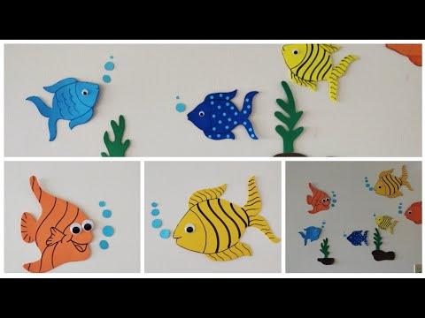 Aquarium Fish Wall Decoration #AdorableCrafts