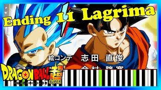 Newest Dragon Ball Super Ending 11 [Piano Cover] Lagrima by OnePixcel Synthesia Tutorial.